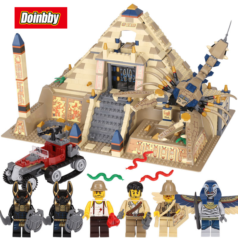 Scorpion Pyramid Building Blocks Bricks Toys Model Gifts Compatible with Legoings Egypt Pharaoh 7327