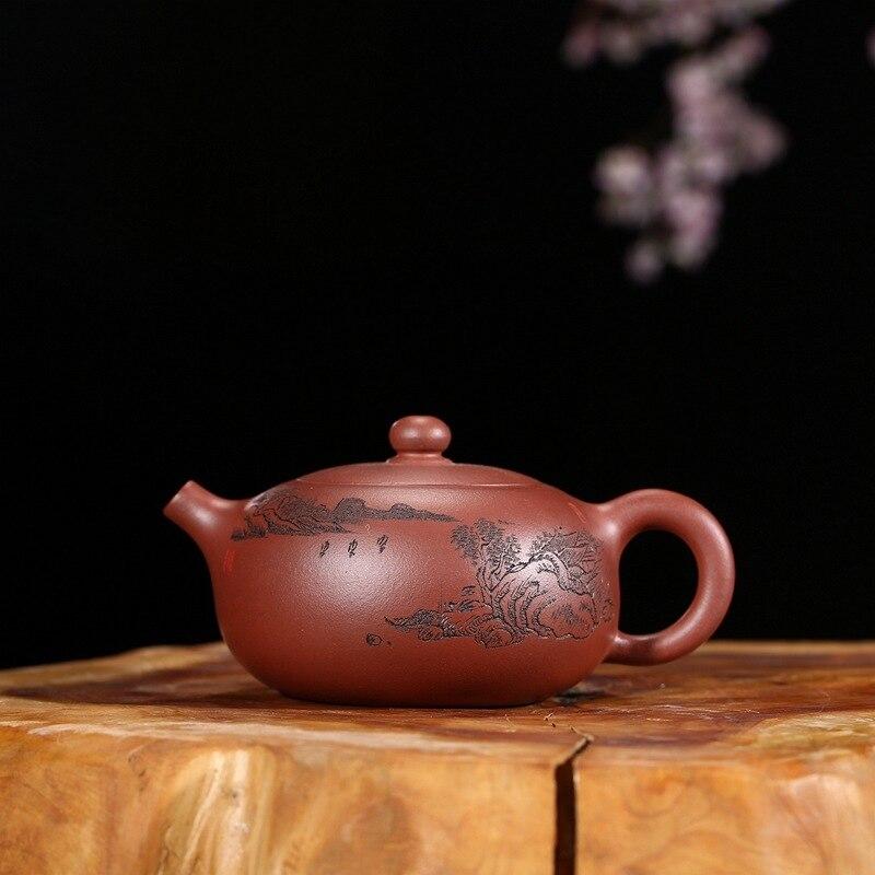 Par Zhang Yiquan manuel déshabillé minerai rouge un jour dragon jardin pot de sable violet théière thé set sur le nouveau produit