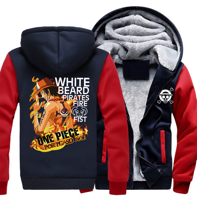 Anime One Piece Portgas D Ace Monkey D Luffy Hoodie