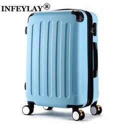Горячее предложение! Модный 20 24 дюйма Чехол на колесиках для девочек ABS студентам прекрасный дорожный водонепроницаемый чемодан для багажа...
