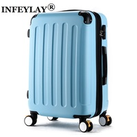 HOT!Fashion 2024 inches girl trolley case ABS students lovely Travel waterproof luggage rolling suitcase extension Boarding box