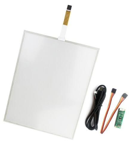 Free shipping 15 inch touch screen 4 line resistive touch screen for  industrial machine , size : 322*247mm free shipping 15 inch dual screen monitor supermarket resistive all in one touch pos terminal