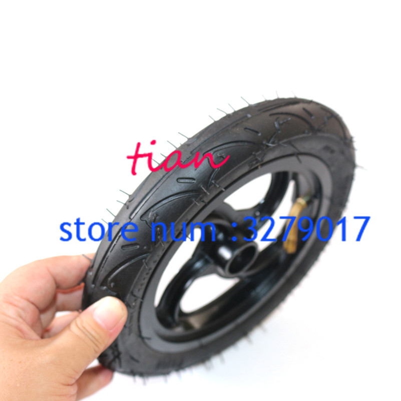 8x1 1/4 Aluminium Alloy Hub 32mm Width Inflated Tube Wheel 8