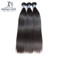 Amanda Peruvian Straight Virgin Hair Bundles For Salon Longest Hair PCT 15% Unprocessed Straight Human Hair Extension 1PC
