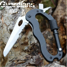 Outdoors More Function Fast Hang Security Mountaineering Buckle Fold Pocket Knife Key Screw Bottle Opener Self Defense