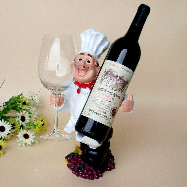 Kucharz Spersonalizowane Ozdoby żywicy Stojak Na Wino Wiszący