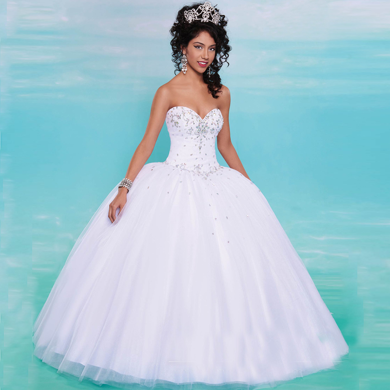 Compare Prices on White Ball Gown Quinceanera Dresses- Online ...