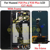 Original 6.1LCD Huawei P20 Pro LCD with frame Display Screen Touch Digitizer Assembly P20 Pro CLT AL01 Lcd P20 Plus Display