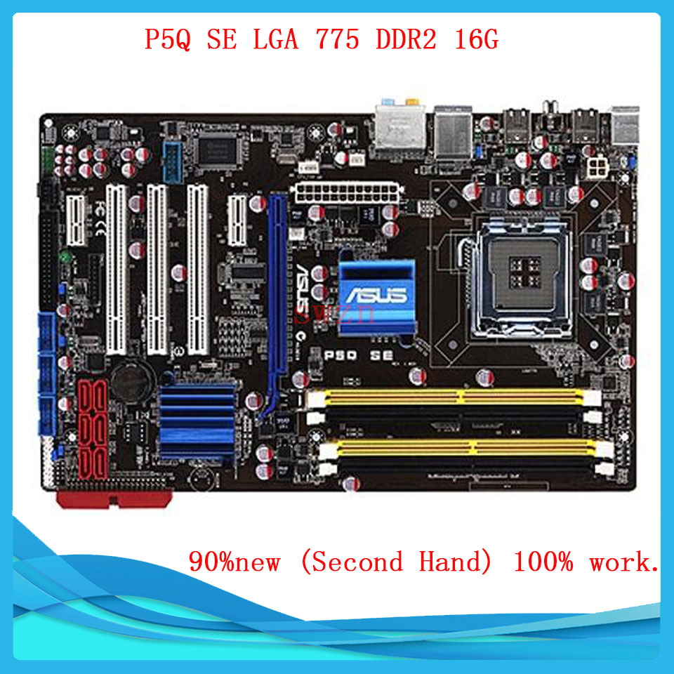 original Used Desktop motherboard For ASUS P5Q P45 Support Socket LGA 775 Maximum DDR2 16GB SATA2 USB2.0 ATX asus g31m s support ddr2 775 pin integrated small board g31m g31 motherboard