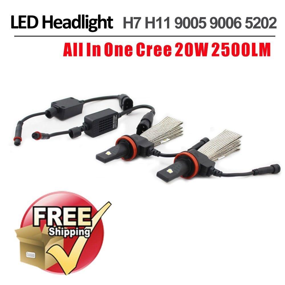 1 Set H7 40 W 5000LM CRE/PHI LIP Auto phare LED lampe frontale faisceau unique LUXEON MZ puces blanc 12/24 V cuivre ceinture H8 H11 H16