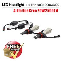 1 Set H7 40W 5000LM CRE / PHI LIP Auto LED Headlight Head Lamp Single Beam LUXEON MZ Chips White 12/24V Copper Belt H8 H11 H16