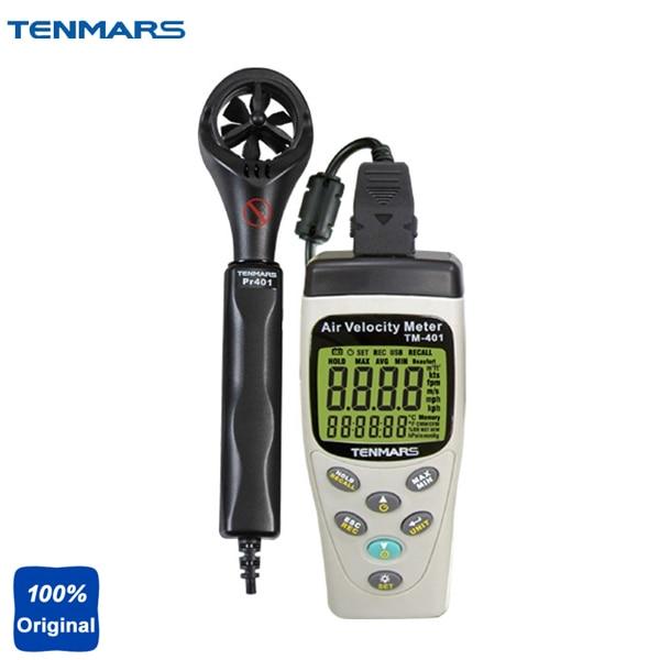 TM-401 Portable Digital Air Velocity Meter,Air Speed Meter, Anemometer peakmeter ms6252b digital anemometer air speed velocity air flow meter with air temperature humidity rh usb port
