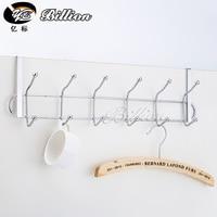 Kitchen 6 hooks Clothes Coat Hooks over Door Rack Bathroom Kitchen bedroom Towel Hanger hanging Loop Organizer