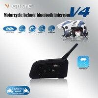 Vnetphone 2017 V4 1200 м BT intercome поддержка 4 люди говорят в то же время intercomunicador BT Para Moto