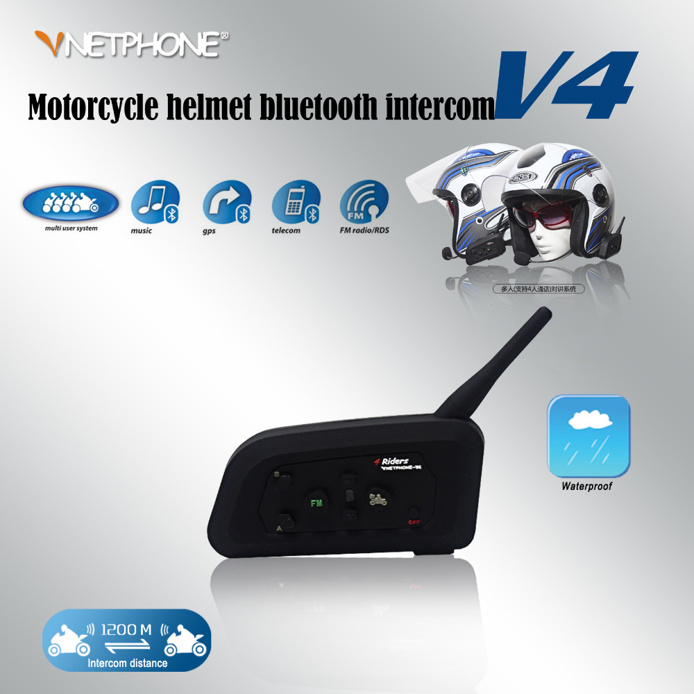 Vnetphone 2017 V4 1200m Bluetooth intercome  support 4 people talk at the same time intercomunicador bluetooth para moto the people at number 9