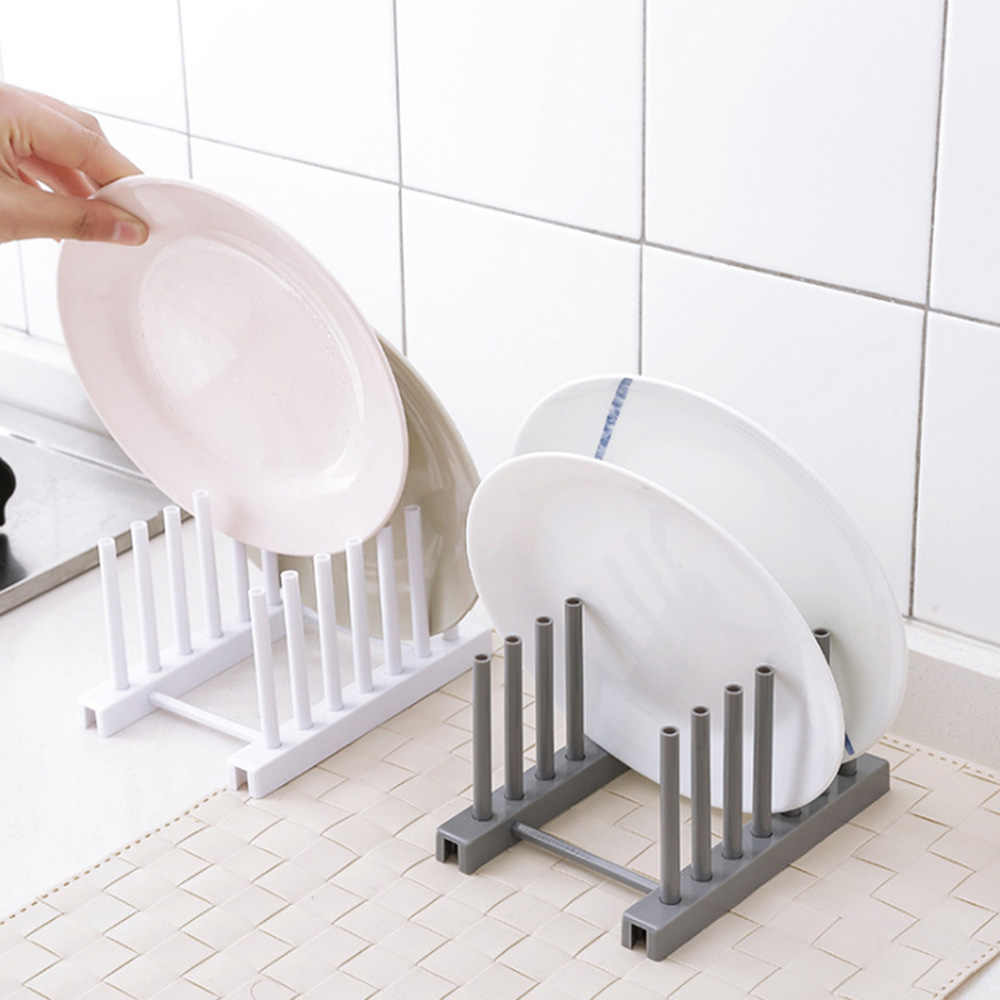 Dish Tray Plastik Tutup Rumah Tangga Penyimpanan Drain Rack Rak Piring