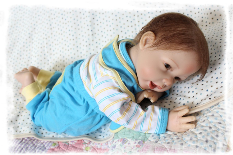 2255cm soft silicone reborn baby boy dolls real cute newborn baby dolls for children bebe gift reborn bonecas prada короткий синий джемпер с отделкой