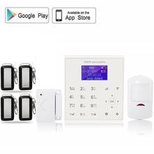 QOLELARM Español wifi alarma de su casa gsm seguridad en el hogar sistemas con wi-fi de la cámara IP 720 p HD control remoto APP-alarma antirrobo