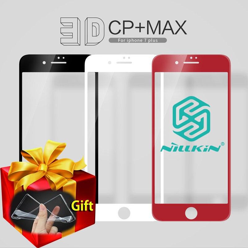 imágenes para Nillkin cp + max 0.3mm 3d rojo de la cubierta completa de vidrio templado para iphone 7/7 más protector de la pantalla para iphone 7 plus iphone7 casos de tpu