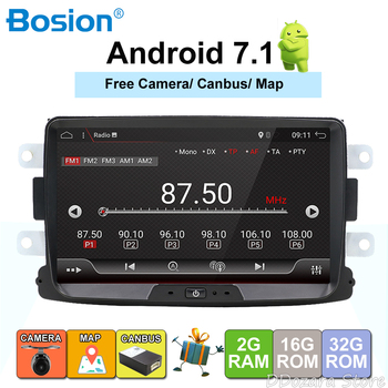 Quad Core Pure Android 7.1 GPS Navigator Radio car dvd For Dacia Renault Duster Logan Sandero stereo Central Cassette Player