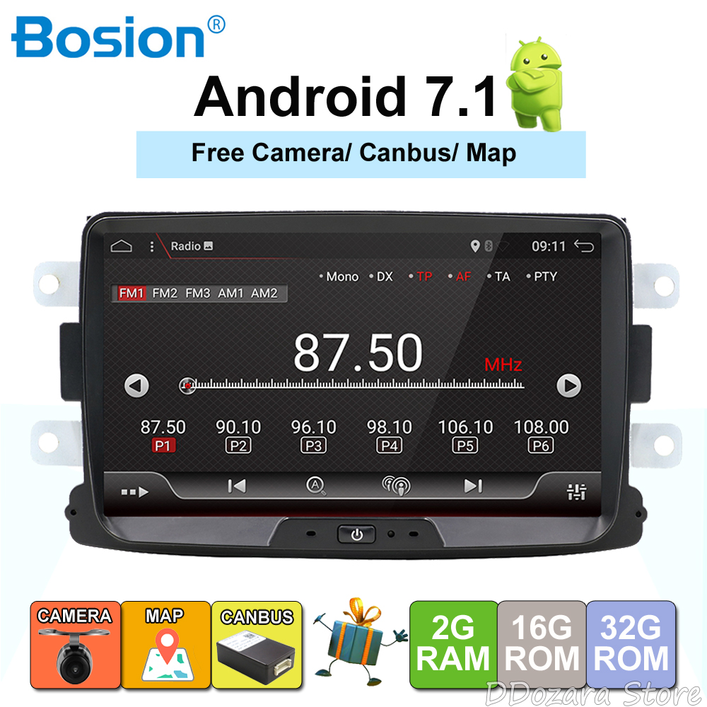 Quad Core Pure Android 8.0 GPS Navigator Radio car dvd For Dacia Renault Duster Logan Sandero stereo Central Cassette Player