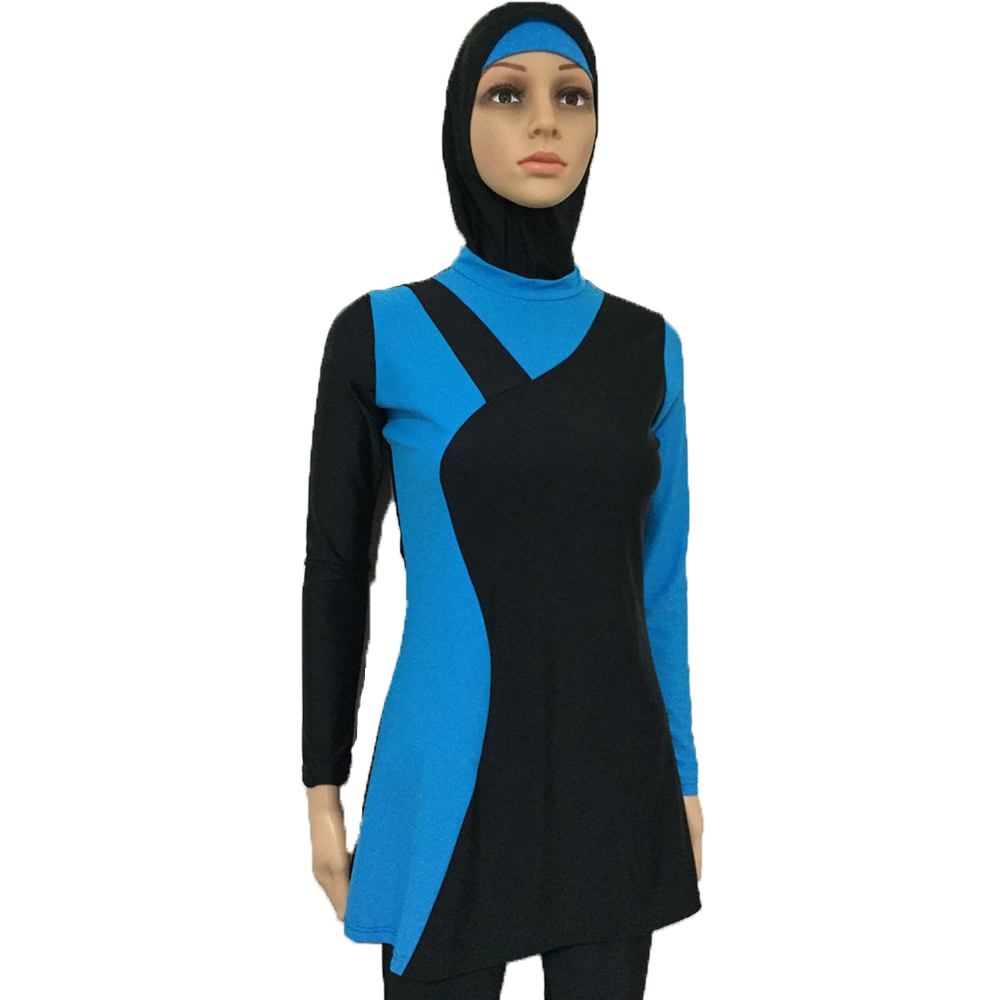 3264d996b8a5e Womens Islamic Muslim Full Cover Costumes Modest Swimwear Beachwear Swimming  with Two Caps-in Islamic Clothing from Novelty & Special Use on  Aliexpress.com ...