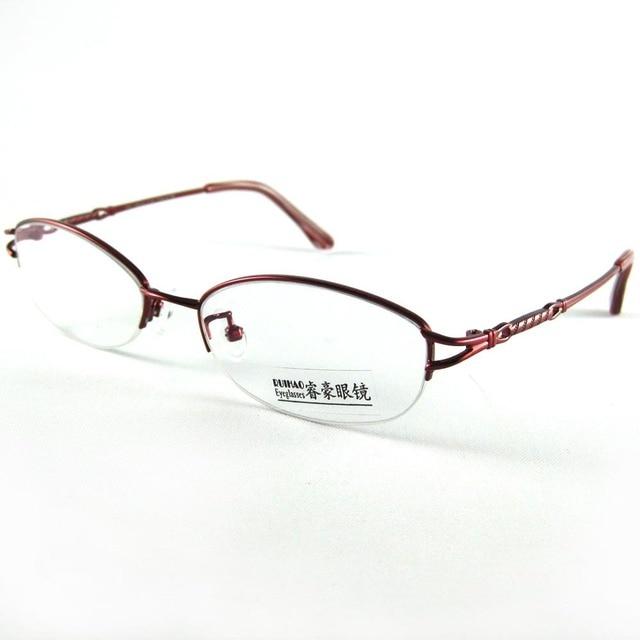 0872769a225 100% Titanium Glasses Frame Super Light Women s Eyeglasses 2 Color Pink  Wine Red Fashion Spectacles