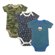 Uniesx Newborn Baby Rompers Clothing 3Pcs/Lot Infant Jumpsuits 100%Cotton Children Roupa De Bebe Girls&Boys Clothes