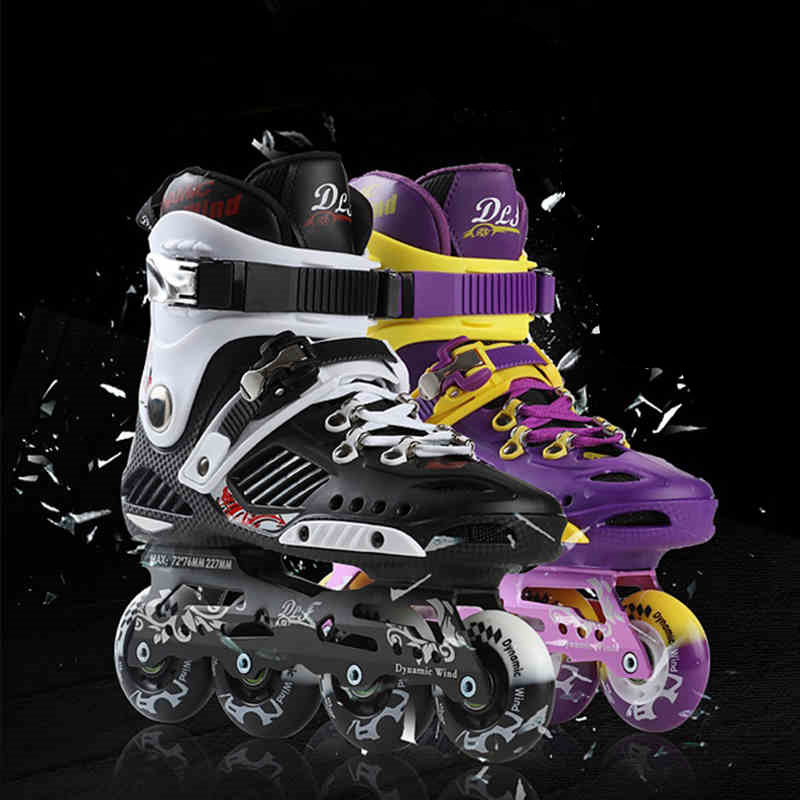 Dynamic Wind Professional Adults Inline Skates Shoes for FSK Slalom Free Skating Best Choice 85A PU Wheel ABEC-11 Bearing Alloy professional long track ice blade 330mm 380mm 430mm 7075 alunimium alloy base frame for kids ice speed skates and adults