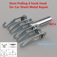 6 Hook Head M14 Thread Dent Pulling Claw Paw For Car Sheet Metal Repair