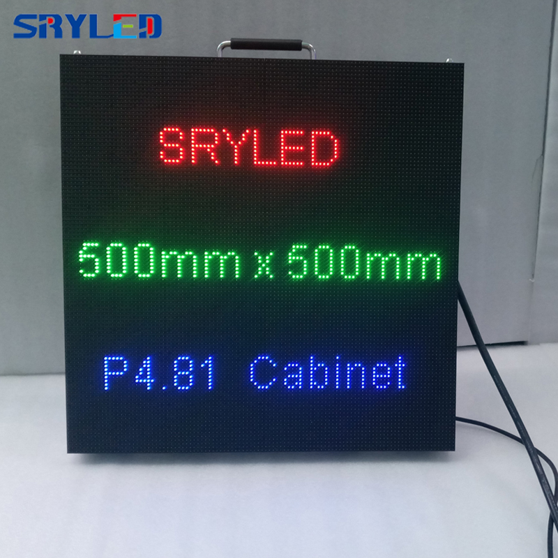 SRYLED P4.81 Die Casting Aluminum Indoor Rental Led Display Screen P3.9,P4.8,P5.2,P6.25 Smd Led