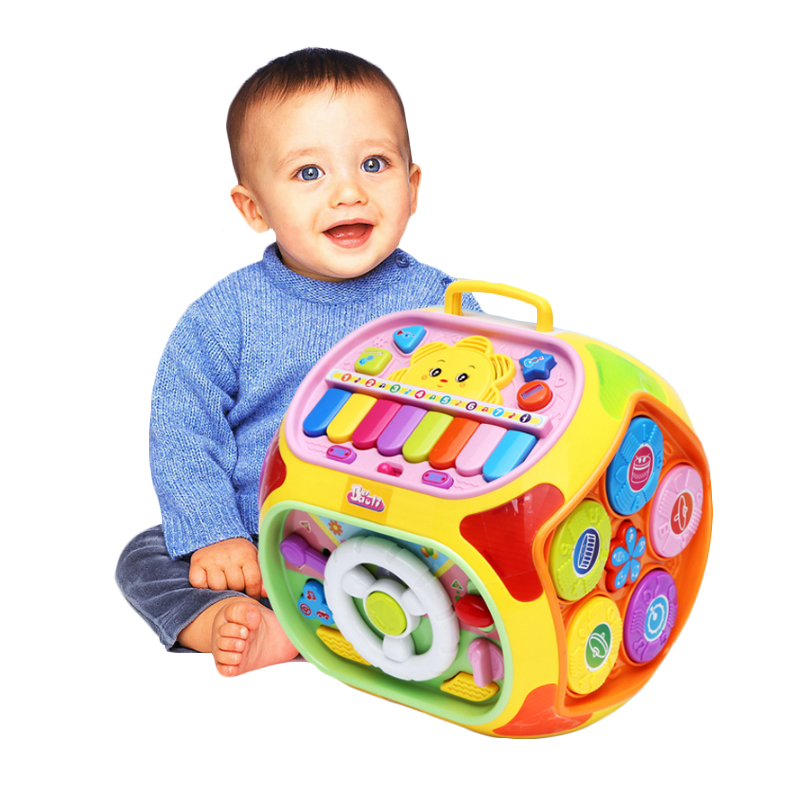 Baby Activity Cube Center House7in1 Electronic Baby Learning Educational Toys Musical Toys for Kids 10M+ Multi-purpose game tabl dayan 6 axis 8 rank cube bagua magic cube speed puzzle game cubes educational toys for kids children