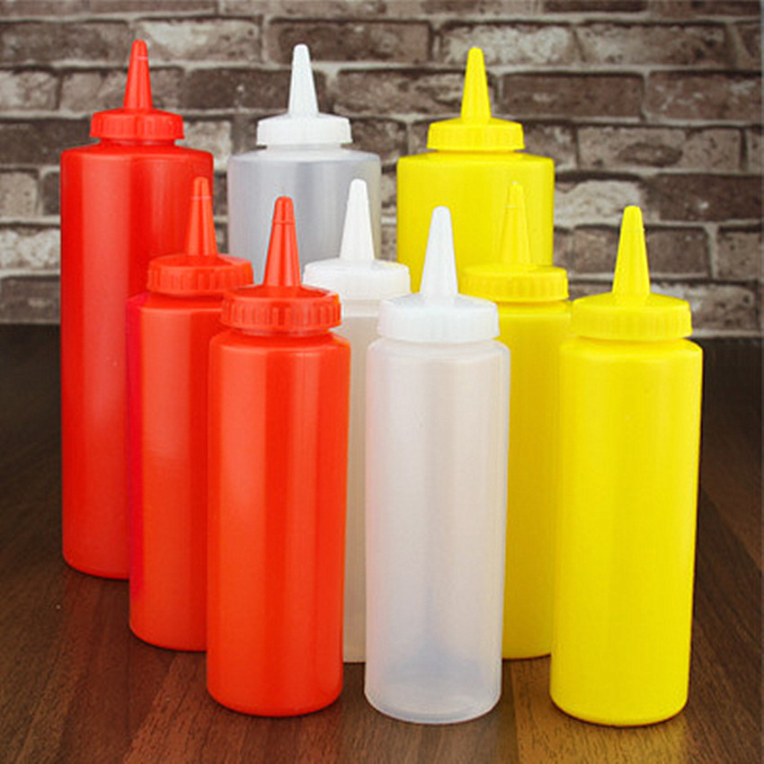 1PC Sauce Squeeze Bottle Honey Cream Oi Storage Bottle Cake Sushi Decoration Tools Jam Spices Tomato Sauce Dispenser Holder Jar image
