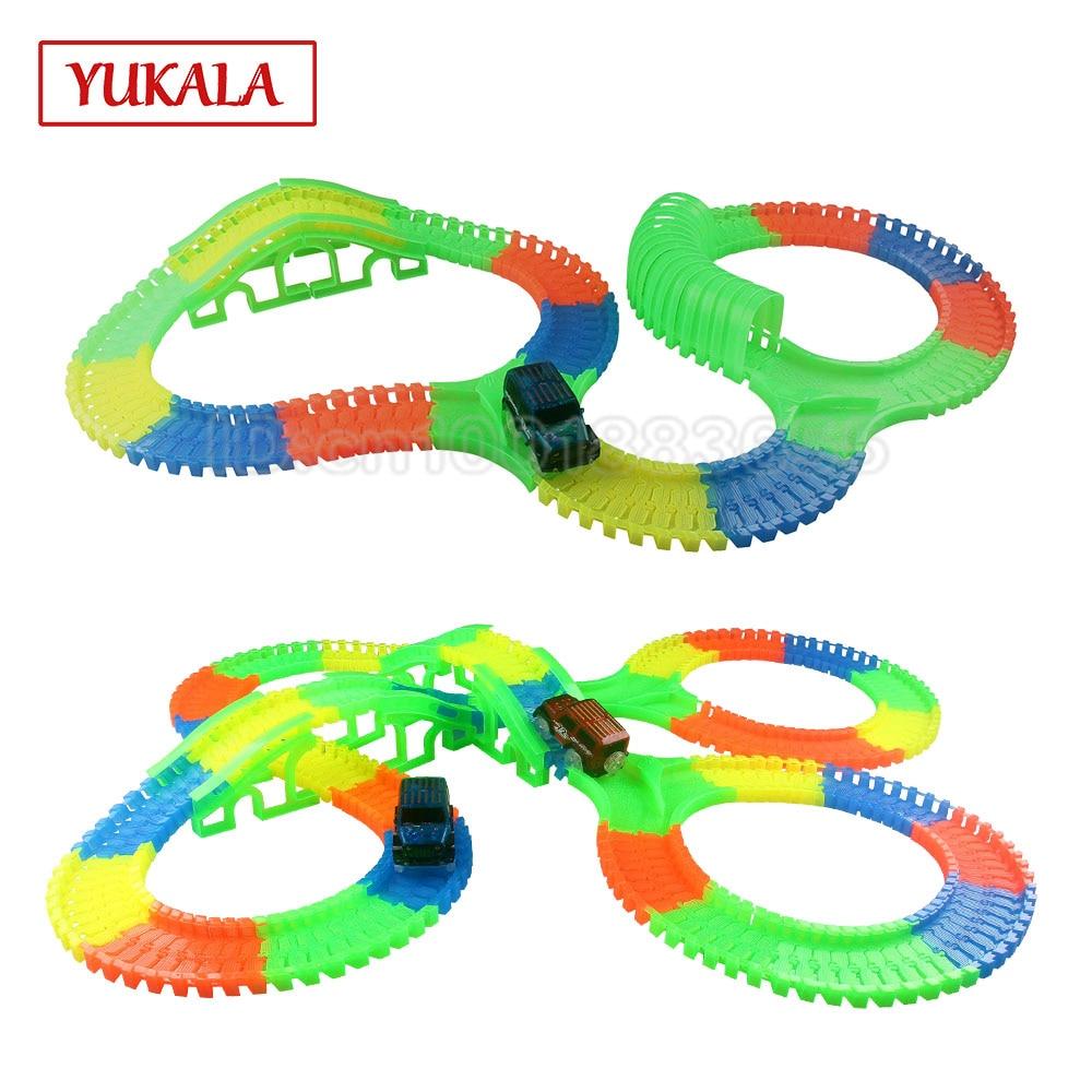 Freies verschiffen flexible DIY rennstrecke spielzeug für die kinder ...