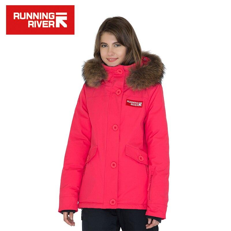 FIUME che scorre Donne di Marca Solido Con Cappuccio Inverno Down Jacket 5 colori 5 Formati di Alta Qualità Caldo Abbigliamento Outdoor Per Donna # D6133