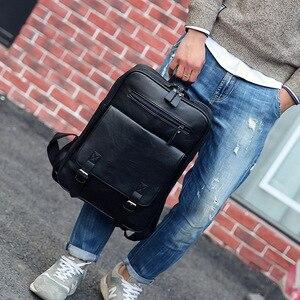 Image 3 - ファッション pu 男性女性トラベルノートパソコンのバックパック macbook air は pro の 11 12 13 15 網膜のラップトップハンドバッグレノボ hp スクールバッグ