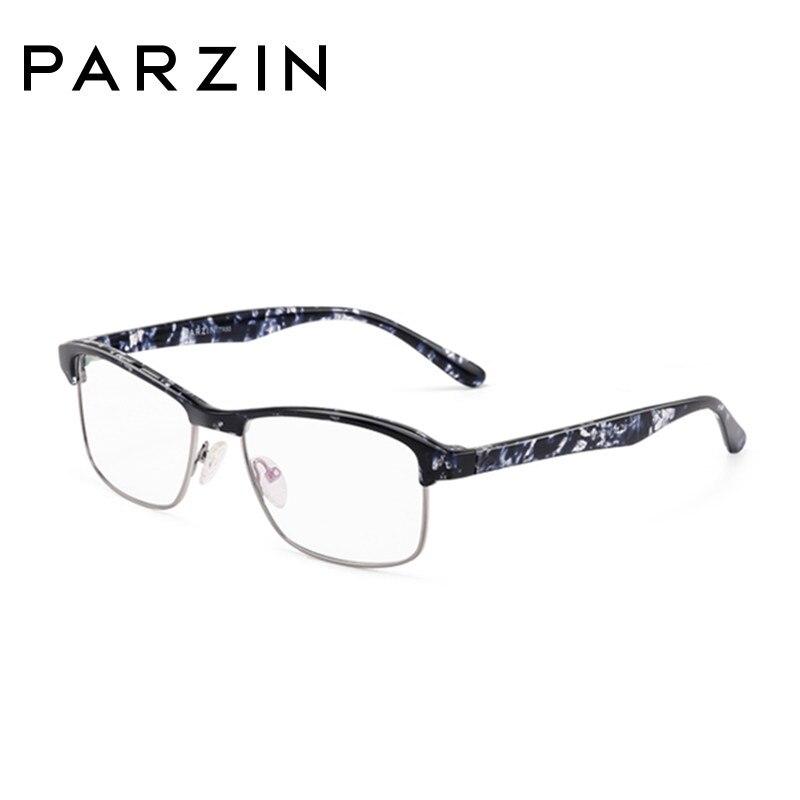 Parzin Tr 90 lunettes cadres hommes femmes myopie lunettes cadre Vintage lunettes cadre optique clair lentille lecture lunettes 5052 - 6
