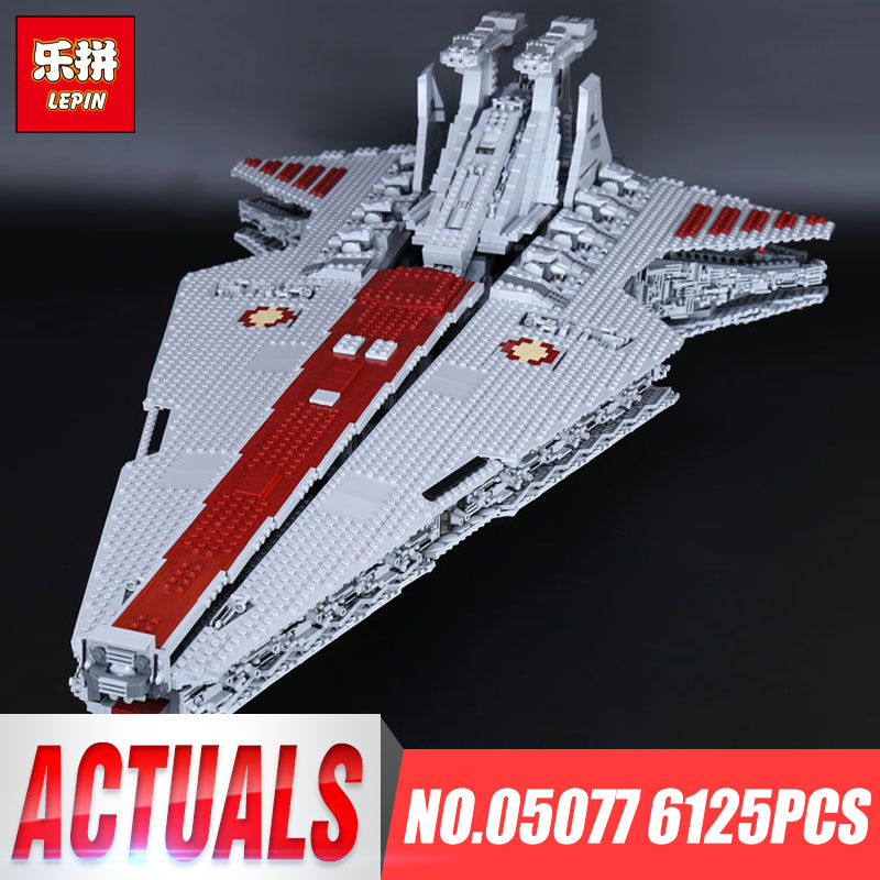 Lepin 05077 6125Pcs Gift Star Series Wars The UCS Rupblic Star Set Destroyer Toys For Child Cruiser Building Blocks Bricks lepin 6125 stucke star classic modell wars die ucs st04 republic cruiser educational building blocks bricks spielzeug mode
