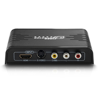 Composite 3 RCA video CVBS S video to HDMI Converter S video R/L Audio to HDMI 720P / 1080P HD Upscaler DVD CD HDTV