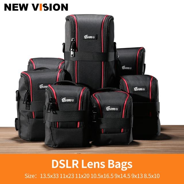 EIRMAI Nylon Waterproof Camera DSLR Lens Bags Lens Case Lenses Pouches Soft Case with Belt for Canon Sony Nikon Olympus