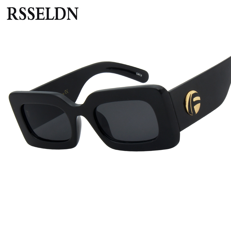 f9efaee0a363 RSSELDN Retro Rectangle Sunglasses Women Brand Designer 2019 Fashion Red  Small Square Black Sun glasses for Women UV400 Shades-in Sunglasses from  Apparel ...
