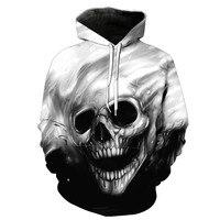TUNSECHY NOVO 2018 Outono Inverno Moda Homens/mulheres Hoodies Red eyes Crânio cabeça Com Capuz Casaco Com Capuz Da Camisola 3D adorável Treino