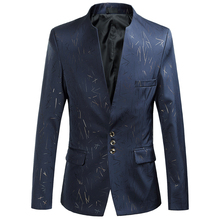 2017Men's Spring and autumn Fashion Blazers High quality stand collar men suit jackets Mens Business Coat Workwear male dresses