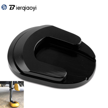 For Honda Forza300 2018 2019 Forza 250 125 2017 Motorcycle Kickstand Foot Side stand Stand Extension Pads Plate