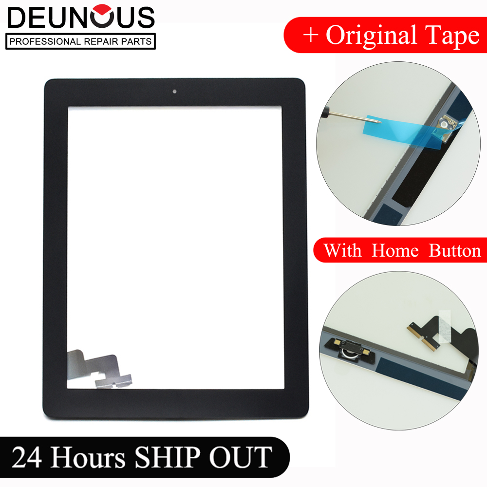 New 9.7'' inch Tablet For ipad 2 ipad2 A1395 A1396 A1397 glass touch screen digitizer touch panel with home Button replacement new lcd display screen for ipad 2 a1376 a1395 a1396 a1397 9 7 inch