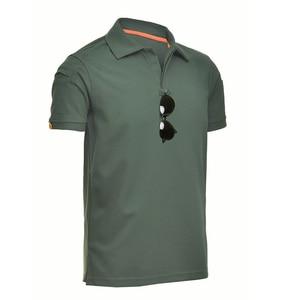 Image 2 - MEGE Dropshipping Men Polo Shirt Summer Tactical Air Force Casual Military Army short Shirt tee polos para hombre camisa polo
