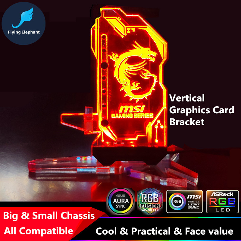 US $9 9 |Aliexpress com : Buy RGB Illuminated Graphics Card Bracket /  Chassis Belief Lamp Vertical Jack / Light Pollution Support ASUS 4Pin 12V  AURA