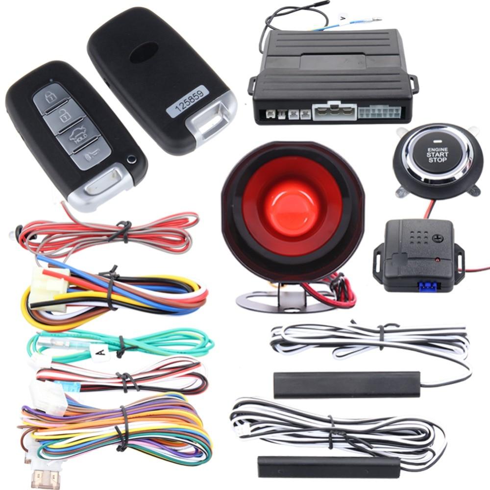 Easyguard car alarm PKE passive keyless entry push button start auto start remote engine start stop universal for dc12v ec007nk цена 2017