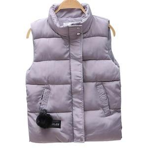Image 5 - Women Vest Mandarin Collar Sleeveless Short Coat Women Jacket Waistcoat Female Plus Size Chalecos Para Mujer 2020 Autumn Winter