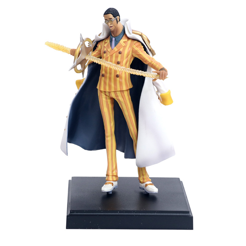Anime <font><b>One</b></font> <font><b>Piece</b></font> Navy Headquarters Senior General <font><b>Ichiban</b></font> <font><b>Kuji</b></font> C Borsalino PVC Action Figure Collectible Model Toys Doll 23cm image